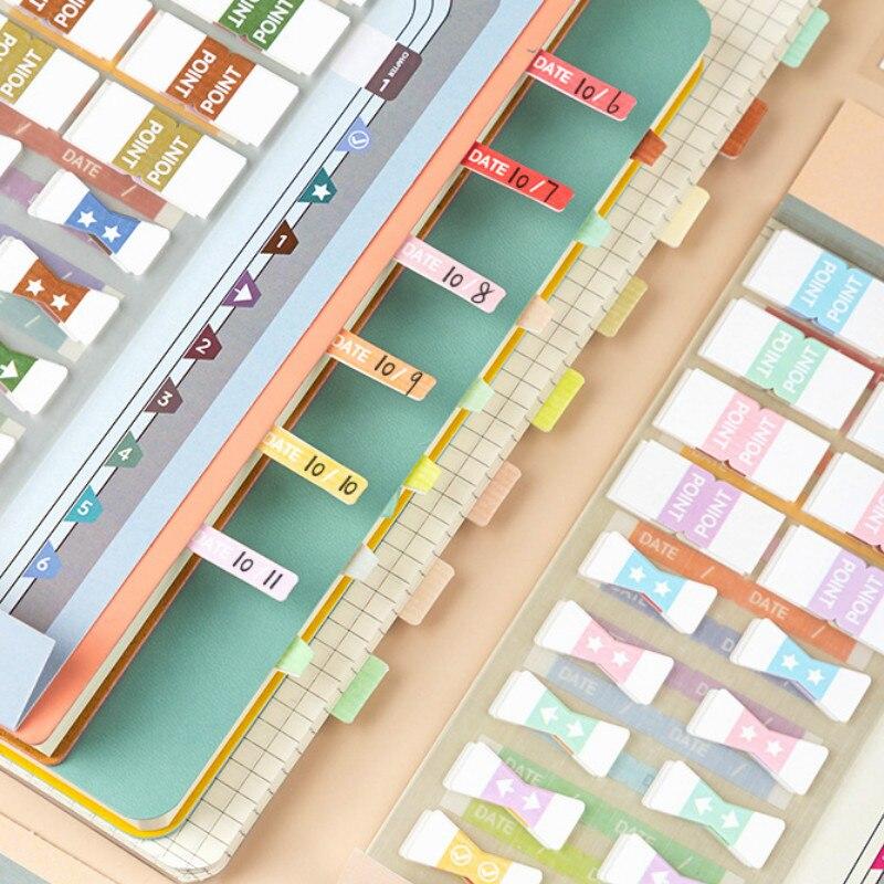 Cores doces e design retro etiquetas de etiquetas coloridas total 155 pces diy índice marcadores n vezes adesivo notas 182mm * 73mm