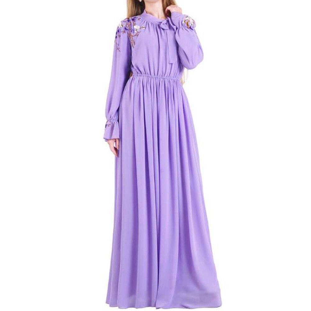 Vestido musulmán púrpura para mujeres Dubai Abaya turco Hijab vestidos caftán marroquí Kaftan Robe ropa islam Abayas Arabische Kleding