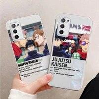 jujutsu kaisen phone case transparent for oppo find a 1 91 92s 83 79 77 72 55 59 73 93 39 57 x3 realmev15 reno5 pro plus