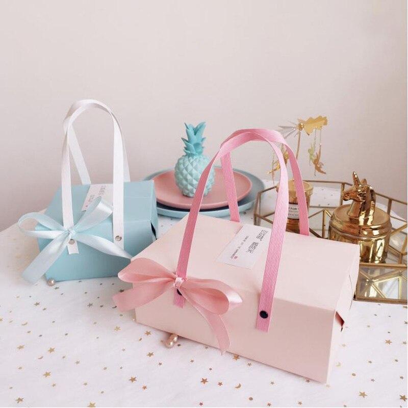 Festival rosa/luna azul pastel de regalo caja de embalaje de galletas de...