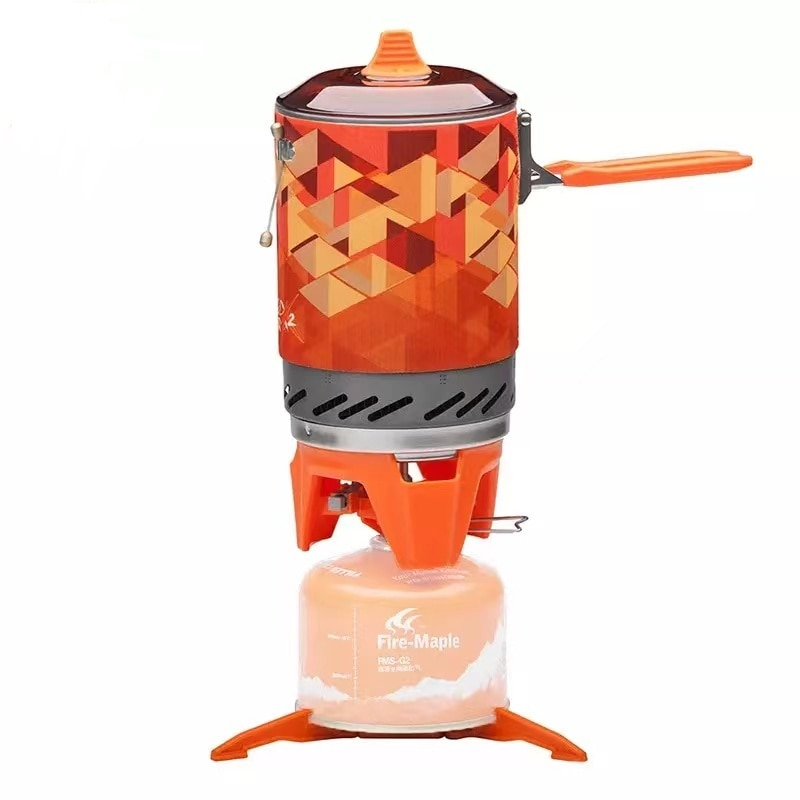Outdoor Camping Equipment Travel On Foot Efficient Heat Collector Energy Saving  Windproof Gas Stoves Cooking System Portable