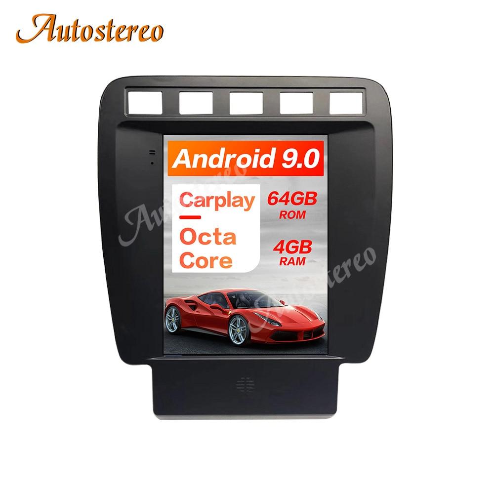 Android 9,0 estilo Tesla 4 + 64GB GPS para coche de navegación para Porsche Cayenne Porsche 2002-2010 estéreo para coche unidad frontal de Radio reproductor Multimedia