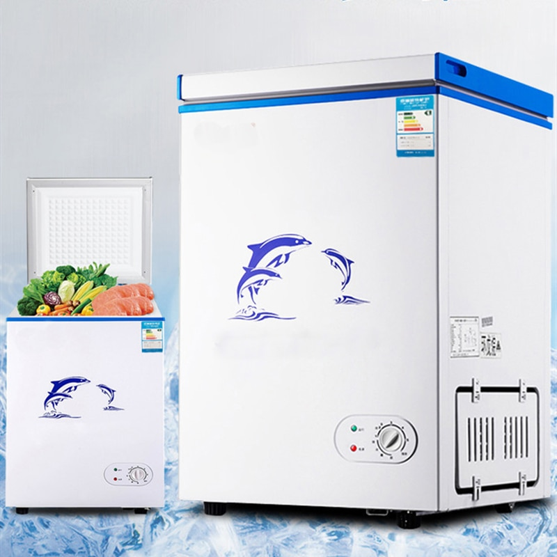Freezer mini freezer freezer geladeira vertical freezer casa comercial armário freezer recipiente 108l