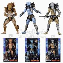 "Original NECA Alien VS Predator AVP Arcade Game 7"" Boss MAD Playable Hunter Warrior Ultimate Action Figure Collectible Doll Toys"