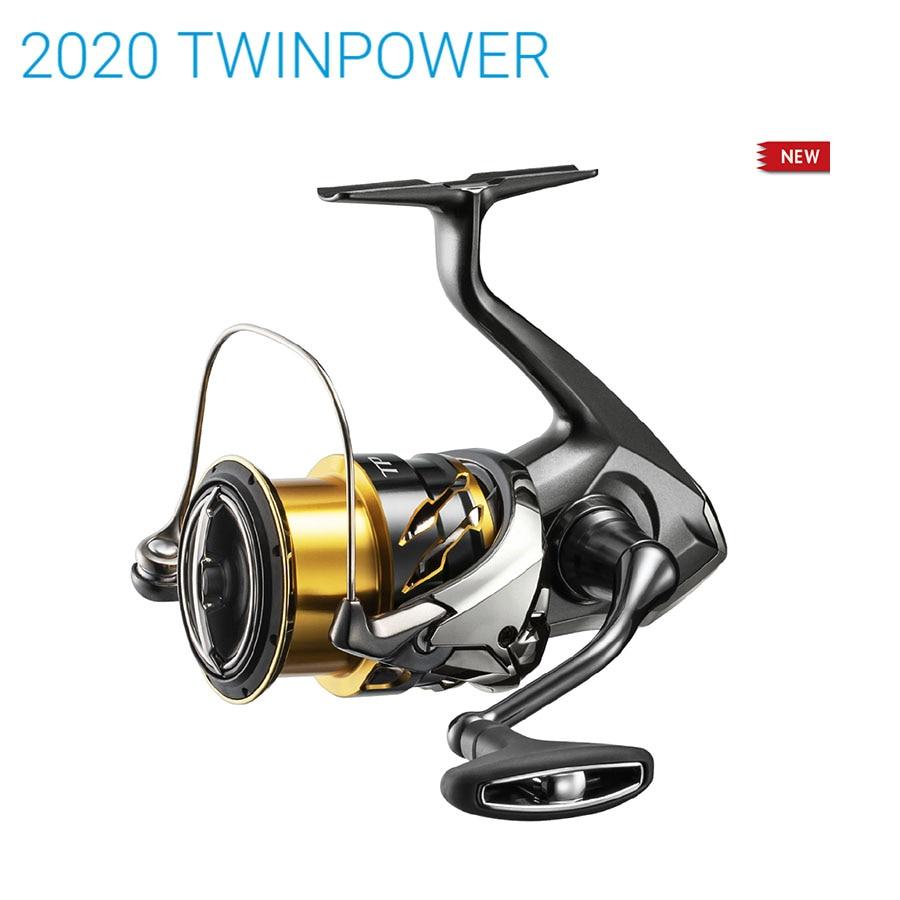 2020 nuevo Original SHIMANO TWIN POWER 2500 C3000 4000 4000MHG 4000XG C5000XG 9 + 1BB HAGANE cuerpo de agua de mar Spinning carretes de pesca
