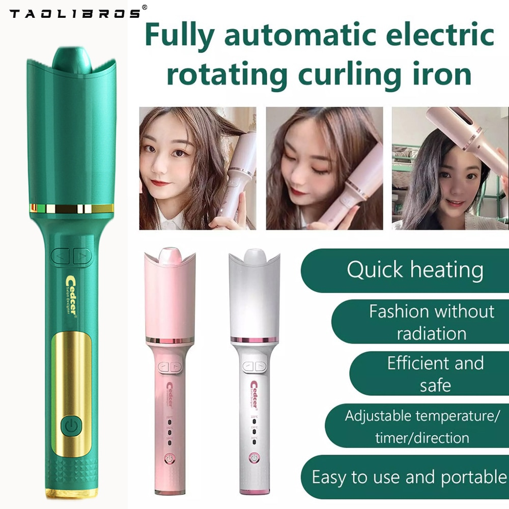 Multifunctional Automatic Hair Curler LCD with Tourmaline Ceramic Heating Curling Iron Cordless Portable Hair Styling Tool