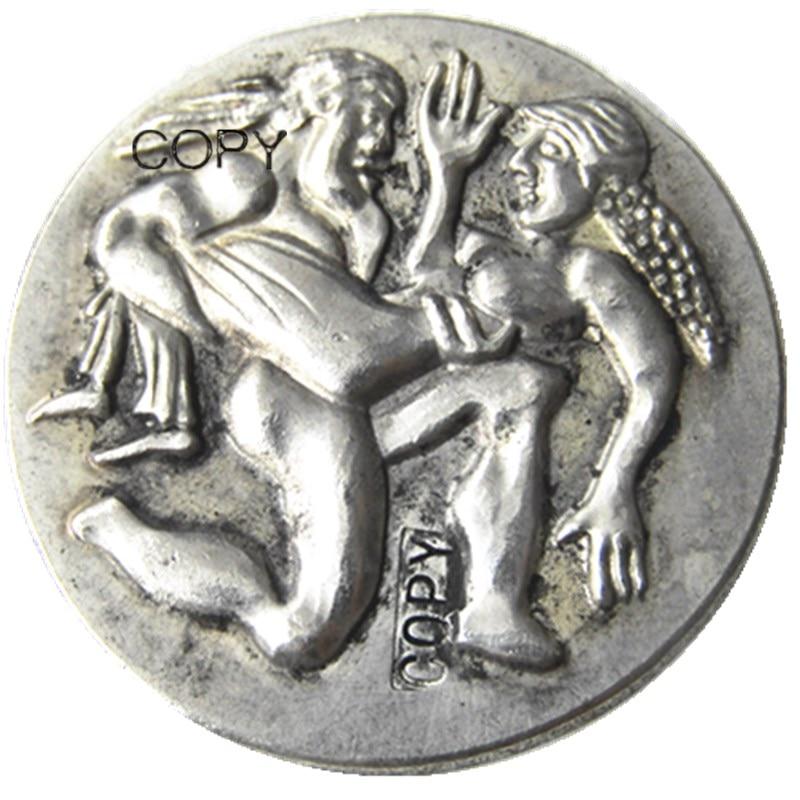 Moneda de plata griega G(27), copia de moneda de THRACE AR STATER