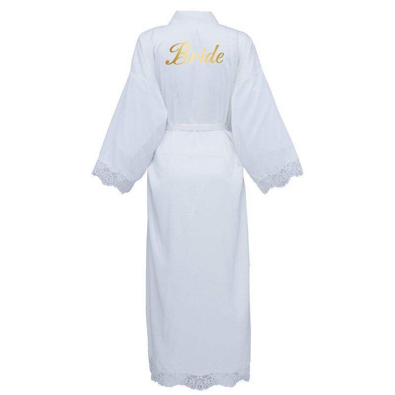 YUXINBRIDAL 2020 Бордовые женские длинные матовые атласные кружевные халаты, свадебное кимоно, свадебные халаты, одежда для сна для свадебной вече...