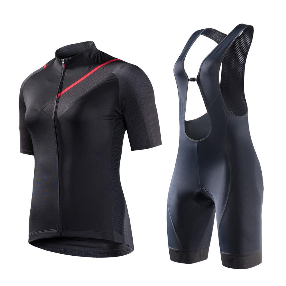 Rion feminino conjunto de camisa de ciclismo