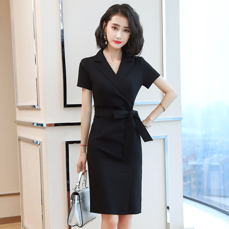 2021 New Spring and Summer Business Wear Dress Slim Fit Sales Department Jewelry Shop Beauty Work Cl