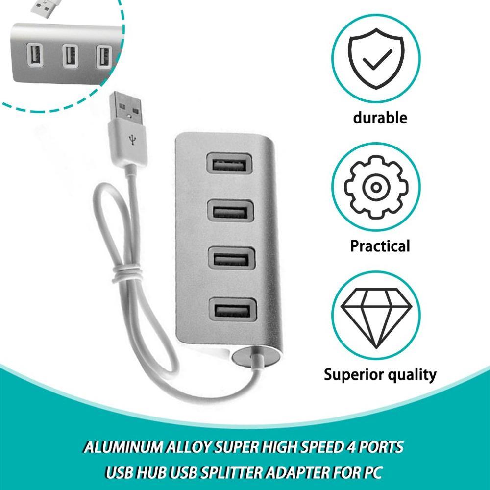 HUB con adaptador de corriente para xiaomi macbook pro air, concentrador de puertos USB 3,0 multi, 4 y 7 puertos, Accesorios para ordenador portátil y PC, nuevo