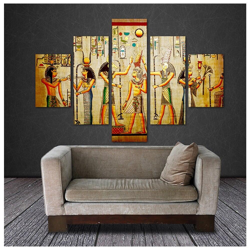 5d diamond painting 5 pcs Ancient Egyptian diamond embroidery full square round cross stitch set mosaic diamond home art,FS307