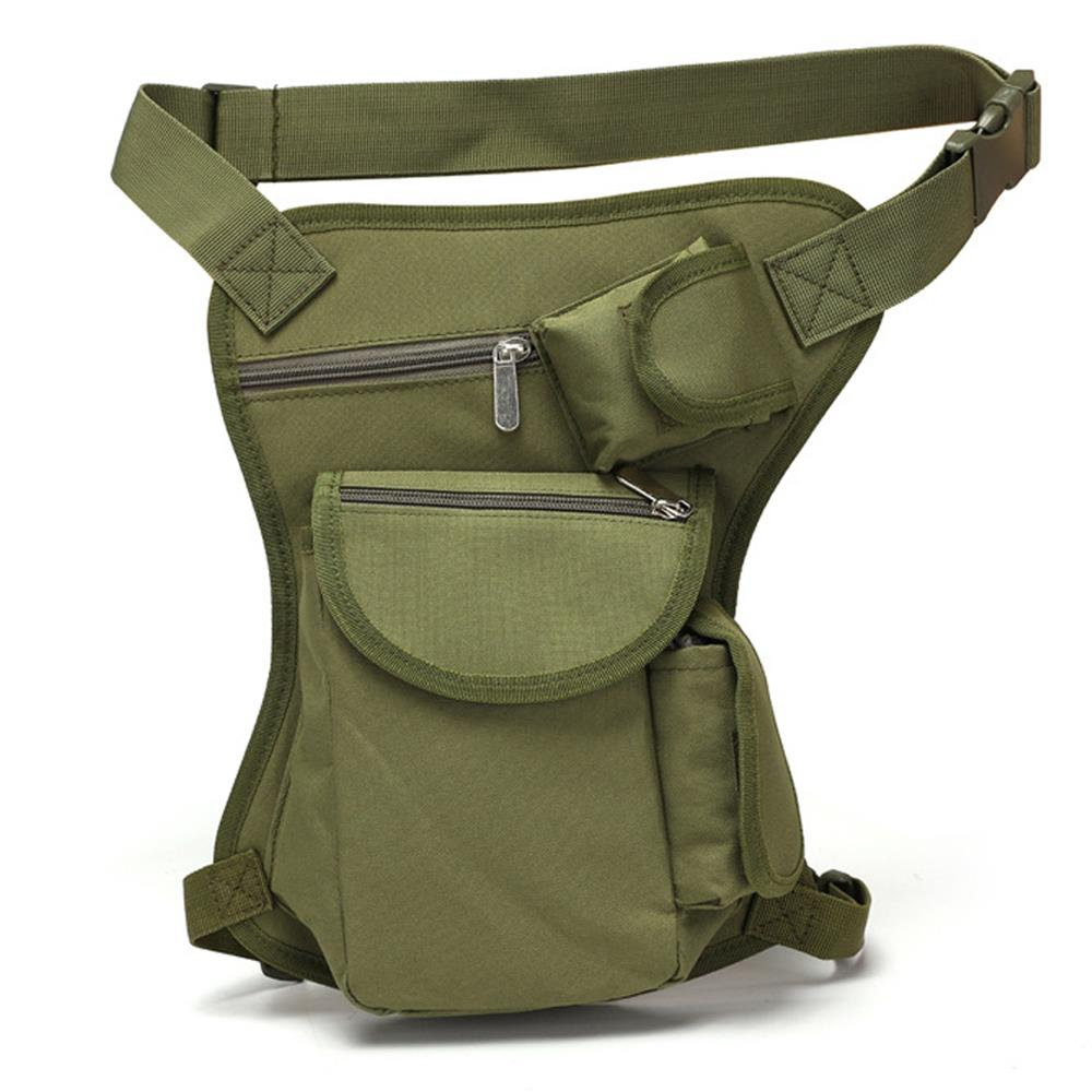 800D Oxford bolsa de tela deportiva paquete Diagonal al aire libre moda cintura bolsa militar por debajo de 10L práctico viaje pierna bolsa de bolsillo