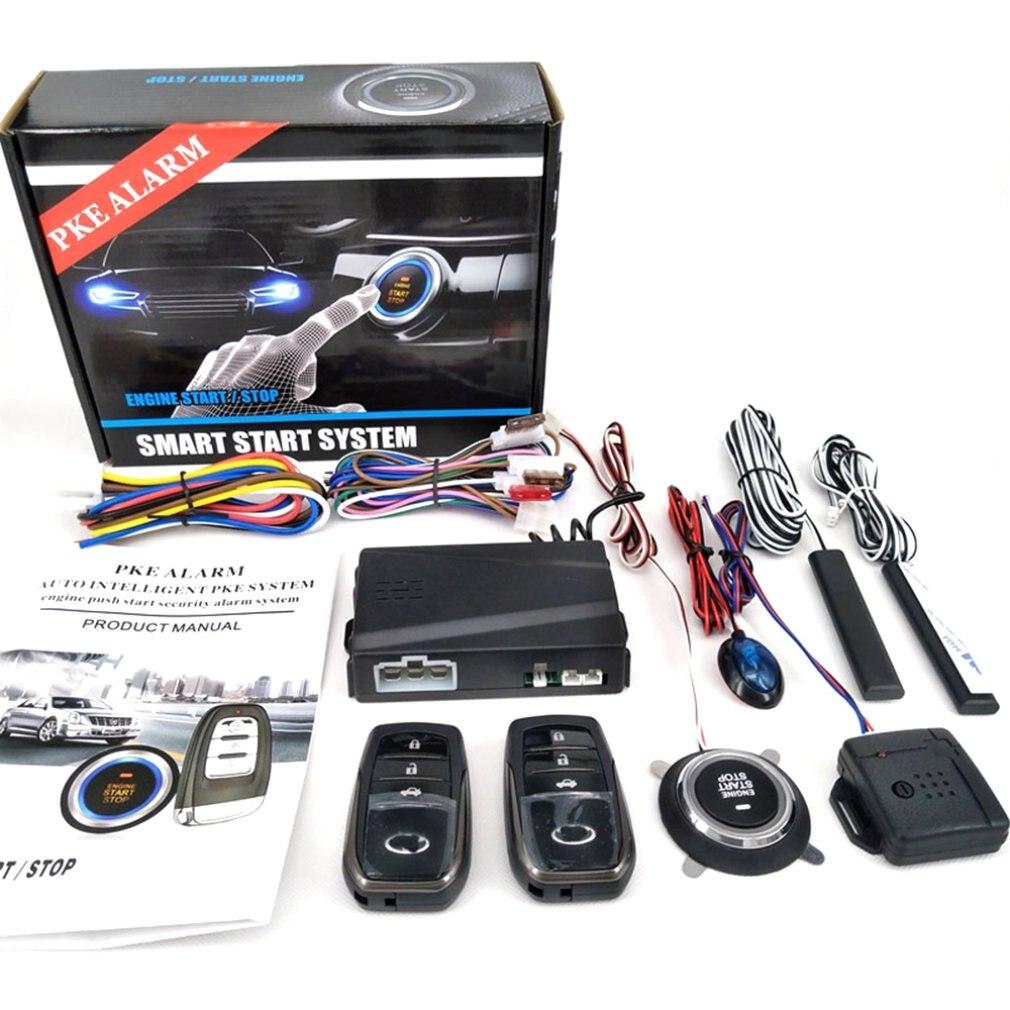 New Partol Smart Key PKE Car Alarm Passive Keyless Entry Car System Engine Start Stop Push Button Remote Starter Shock Sensor X5
