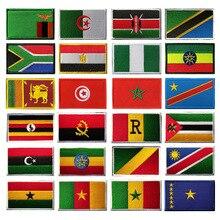 XICC африканская Вышивка Липучка патчи Южная Африка Египет Замбия Алжир Гана Марокко Нигерия Tunisia индивидуальные наклейки Патчи