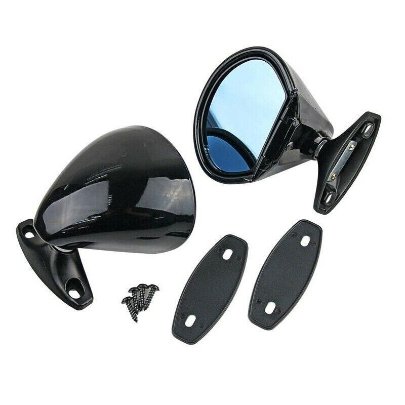 2 uds Racing clásico Retro puerta ala espejo lateral barra caliente ajuste Universal Vintage negro espejo piezas
