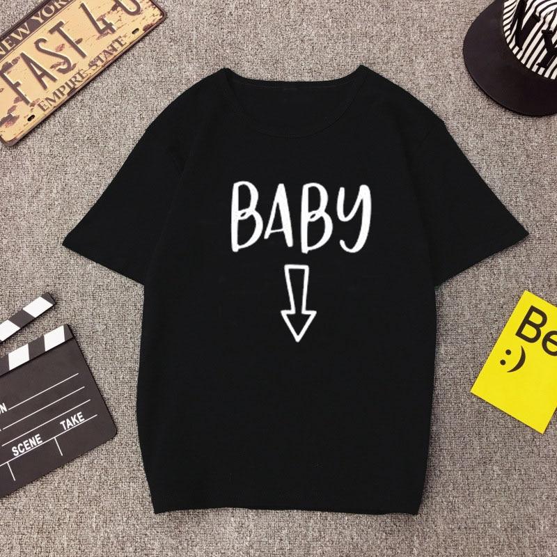 Gravidez anúncio bebê cerveja barriga camiseta mamãe mãe combinando casal camiseta mujer feminino engraçado streetwear topos