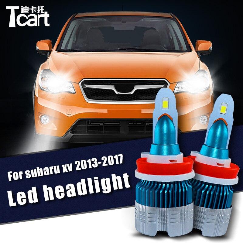 Tcart 2pcs 60W Car LED Headlight For Subaru XV crosstrek 2013 2014 2015 2016 2017 9005 HB3 H11 auto lamps