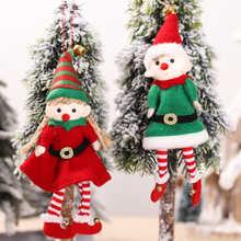 Santa Claus Doll Christmas Tree Ornaments Merry Christmas Decoration For Home 2021 Xmas Gifts Navidad Noel Happy New Year 2022