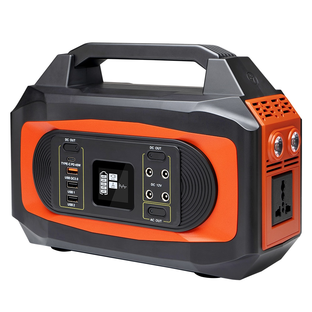 444wh 120000mAh Portable Generator Solar Power Station 500W Output Camping Emergency Power Supply AC