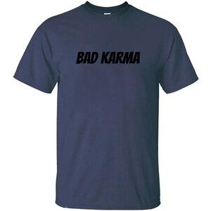 Индивидуальные Bad Karma Футболка мужская 2020 Мужская футболка большого размера S-5xl 100% хлопок хип-хоп Топ