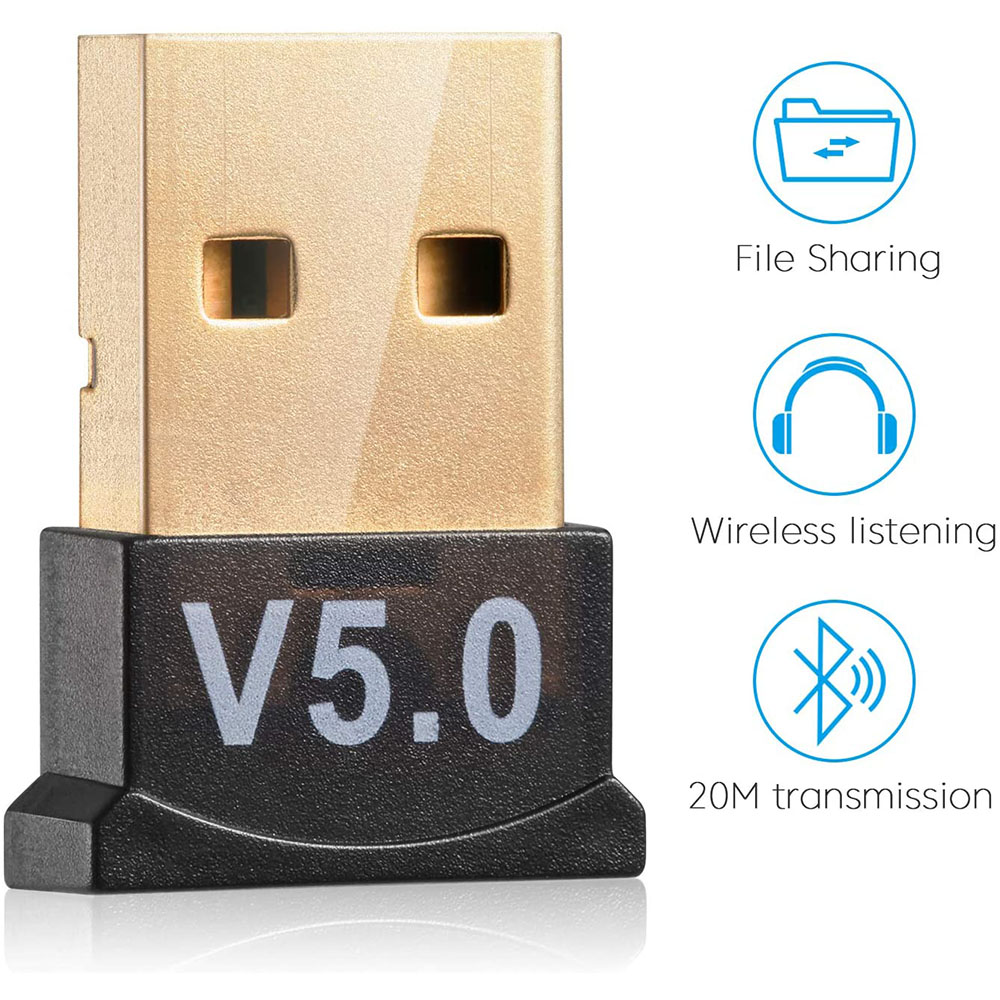 USB Wireless Bluetooth 5.0 Receiver Adapter Audio Dongle Sender Transmitter For PC Headset, Printer, Speaker, PS4/ Xbox