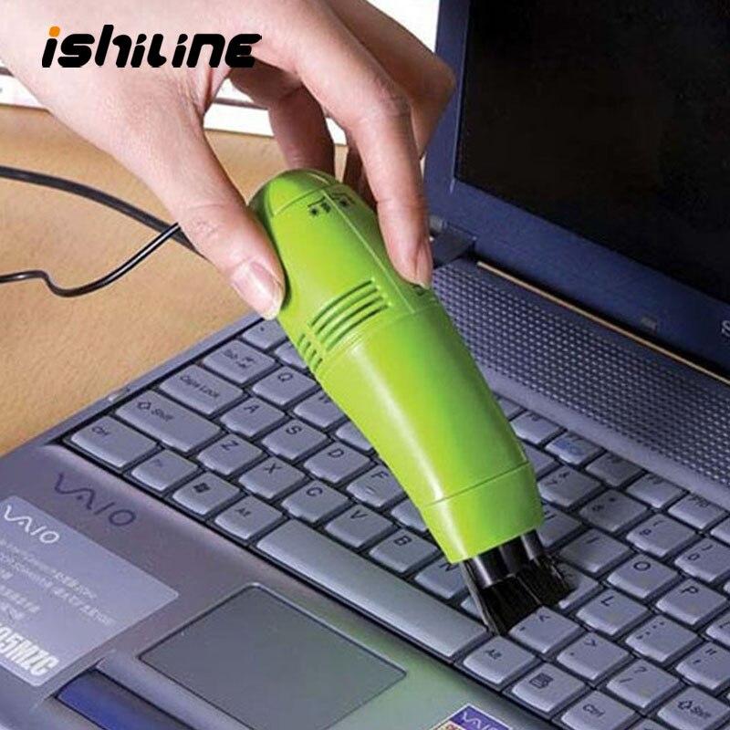Mini usb teclado aspirador de pó portátil escova limpeza ferramenta