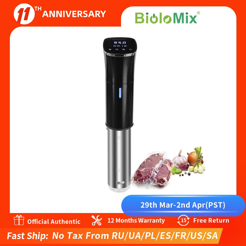 AliExpress - Biolomix 2nd Generation IPX7 Waterproof Sous Vide Immersion Circulator Vacuum Slow Cooker with LCD Digital Accurate Control