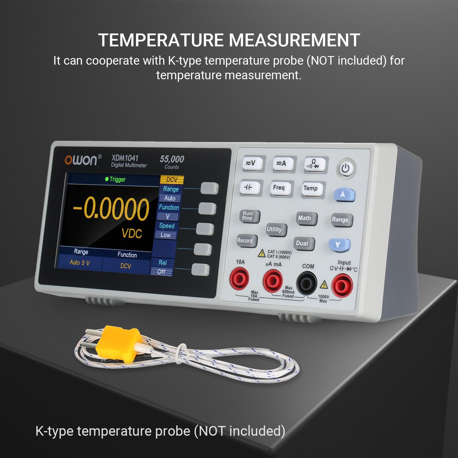عداد رقمي متعدد موديل owin XDM1041 55000 ، مقياس عالمي عالي الدقة بشاشة 3.7 بوصة TFT LCD مع مقياس إضاءة خلفية