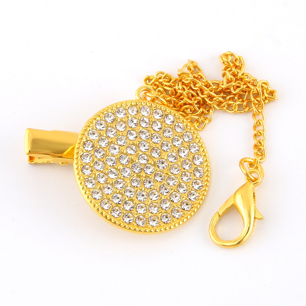 Bling Pacifier Clips Chain Dummy Clip Pacifier Holder Nipple Soother Chain For Infant Baby Feeding