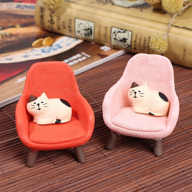 1:12 миниатюрный мягкий диван с котом для кукол, мини-мебель, игрушки, кукольный домик, ролевые игры, новая игрушка