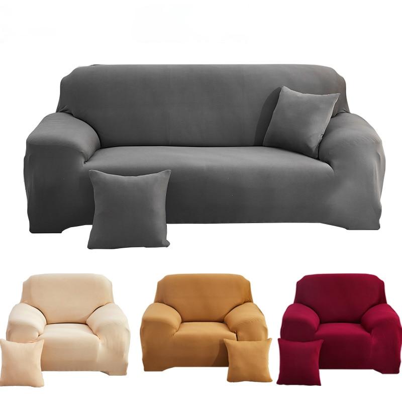 Однотонные эластичные Чехлы для диванов, для гостиной, L-образные формы, угловые накидки на угловые кушетки