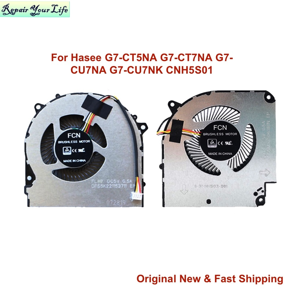 Laptop Gaming CPU GPU Cooling Fan for Hasee G7-CT5NA G7 Z8 CT7NA G7-CU7NA G7-CU7NK CNH5S01 G8-CU7NK CT7NT Z8-CR7N1 CU5NB CT7NK