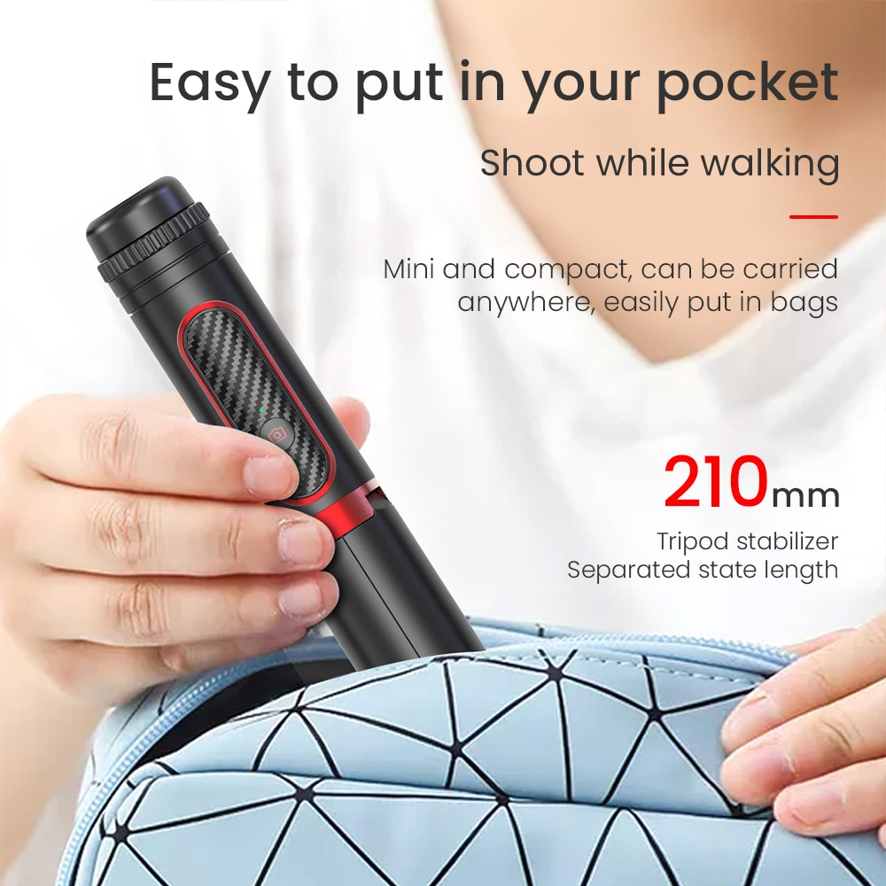 Wireless Bluetooth Compatible Selfie Stick Anti-Shake Handheld Gimbal Stabilizer Tripod Monopod Remote Control For IOS Android enlarge