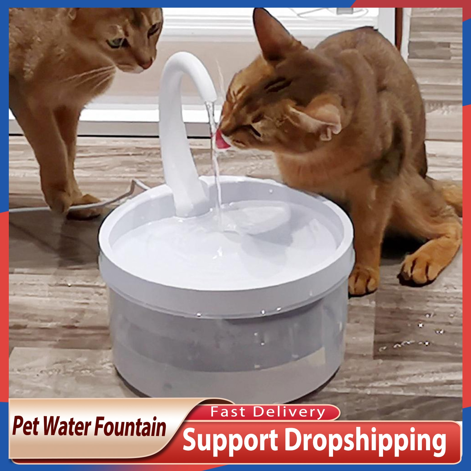 2L Pet Water Fountain Cat Swan Neck Dog Automatic Drinker Dispenser For Cats Dogs 2021 New