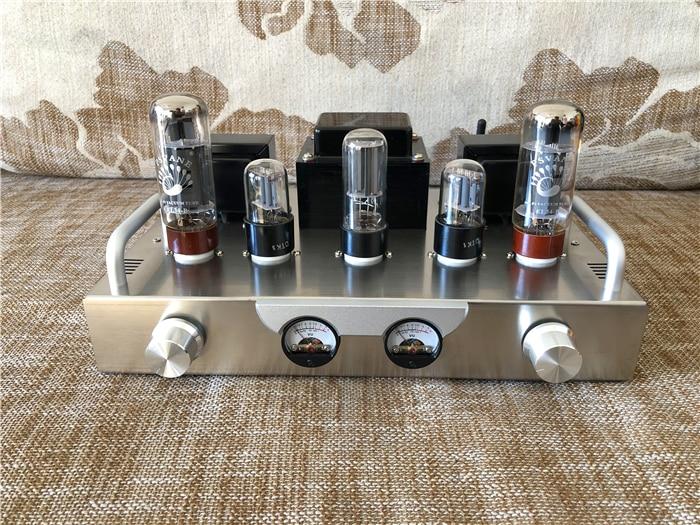 VU Meter سبارتا X1 فراغ أنبوب قوة أمبير HiFi 6N9P + EL34 + 5Z3P مُضخّم صوت لتقوم بها بنفسك عدة الانتهاء أمبير للاختيار