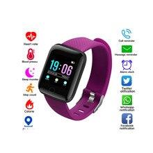 ID116 montre intelligente Sport Fitness Tracker horloge avec écran tactile soutien fréquence cardiaque surveillance de la pression artérielle Bracelet dorigine