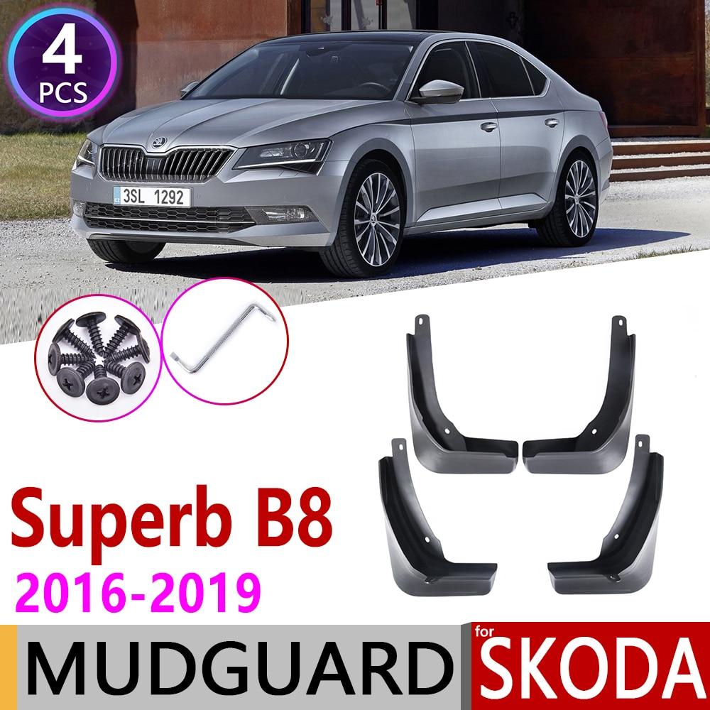 Передние задние брызговики автомобильные для Skoda Superb B8 3 MK3 3V 2016 ~ 2019 крыло брызговик щитки Брызговики аксессуары 2017 2018