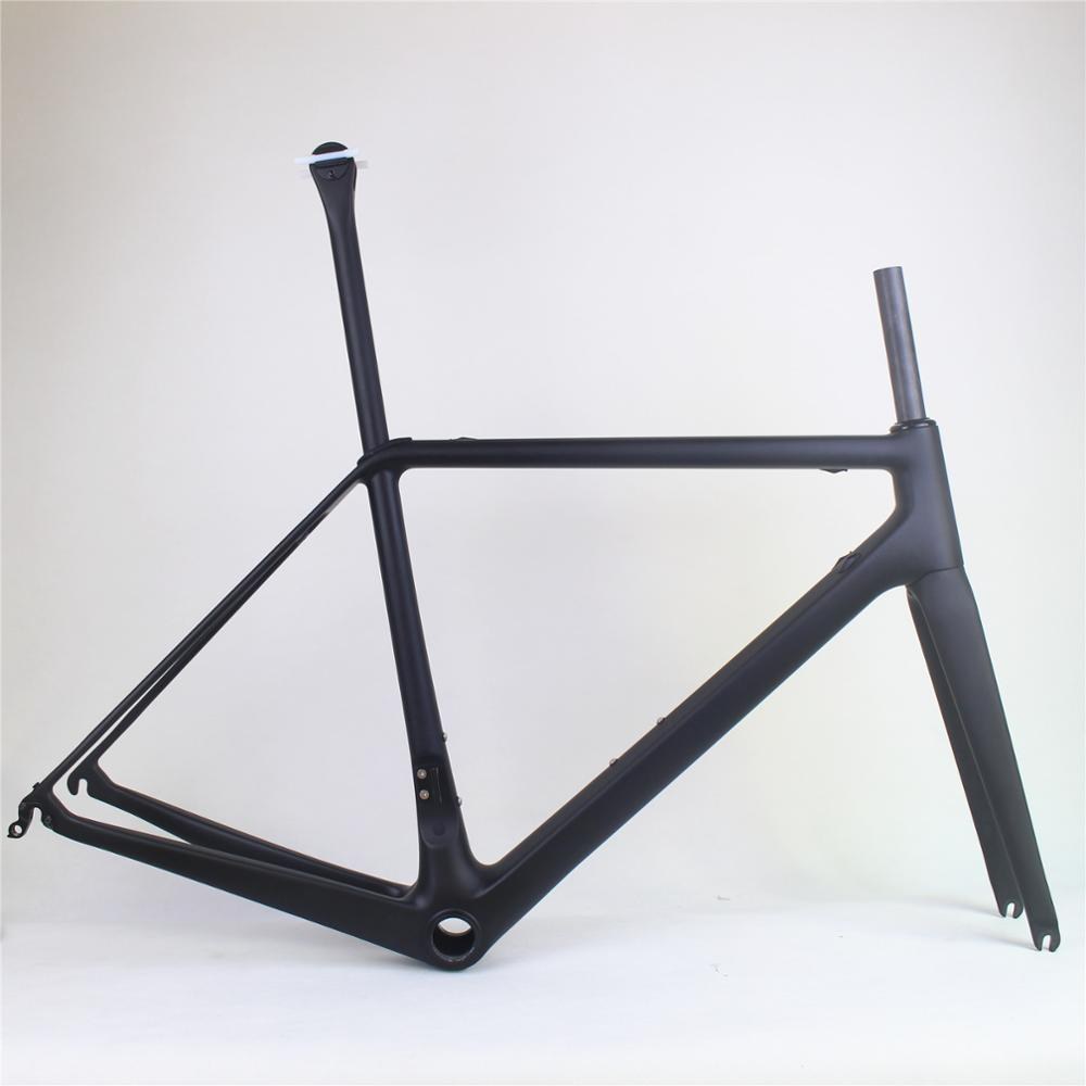 Súper ligero cuadro de bicicleta de carretera de carbono, cuadro de bicicleta de carreras, estructura de carbono, tamaño 50/52/54/56cm