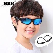 HBK Sports lunettes de soleil en plein air polarisées Silicone enfants lunettes de Protection pour enfants garçons filles Anti UVA UVB Protection