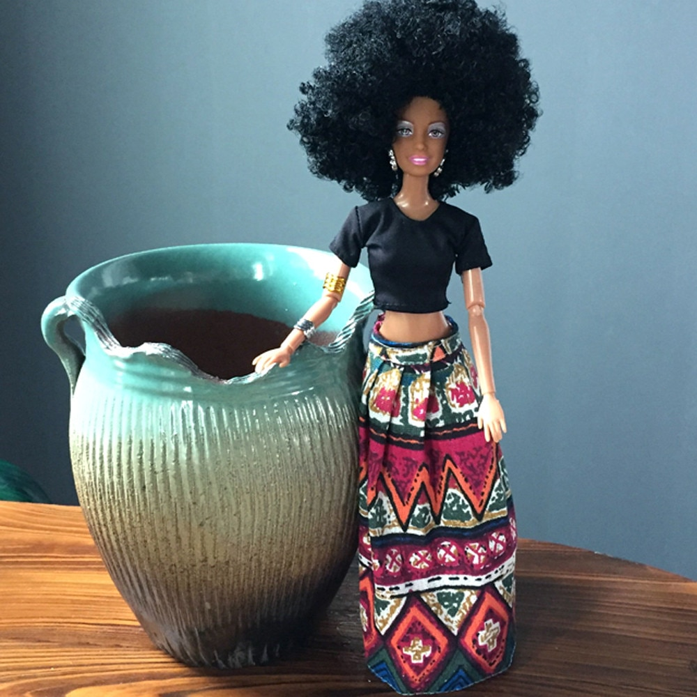Gran oferta de muñecas para niñas, muñeca africana conjunta movible, muñeca negra, el mejor regalo, envío directo, muñecas para niños y xs