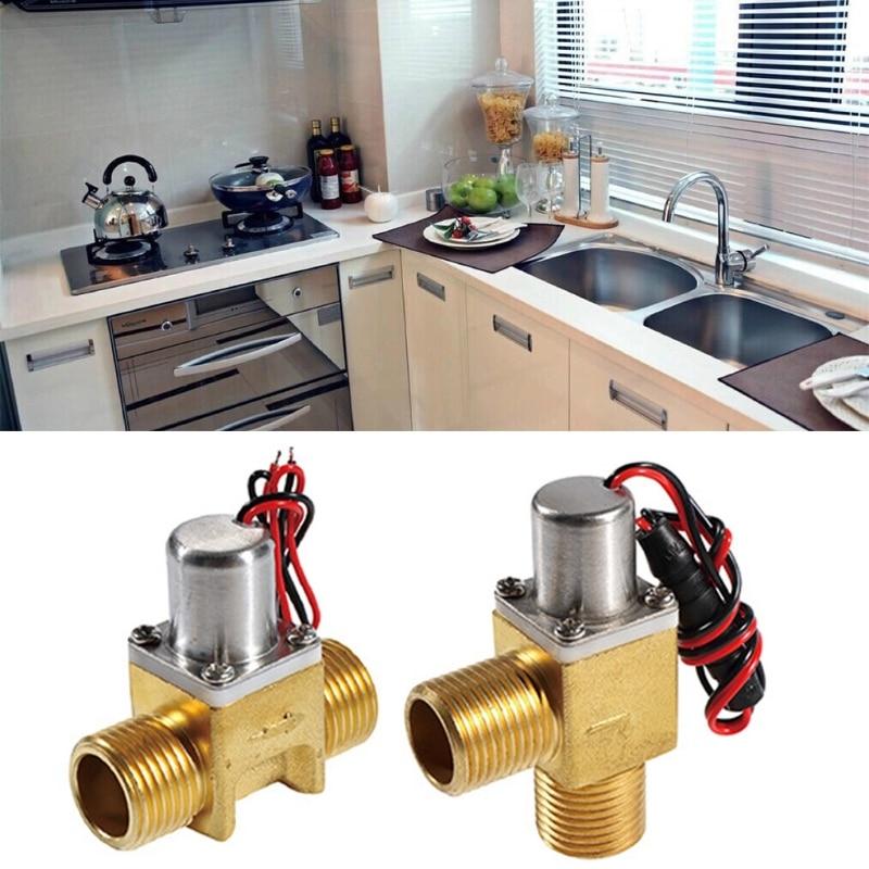 Válvulas de solenoide de pulso de flujo de agua ahorradoras de energía Control de agua biestable latón para limpiador de inducción, sistema de ahorro de agua prepago