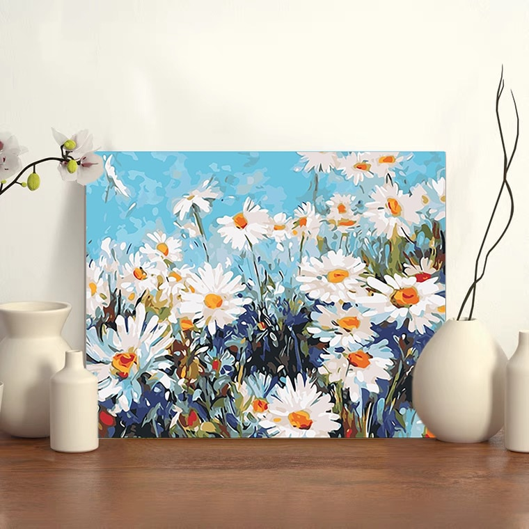 GMAIL New DIY Digital Painting Living Room Decoration Landscape Flower Handmade Oil Painting Decompression Coloring Painting2021