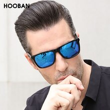 HOOBAN Vintage Square Women Men Sunglasses Classic Big Rectangle Sun Glasses Female Male Luxury Mirr