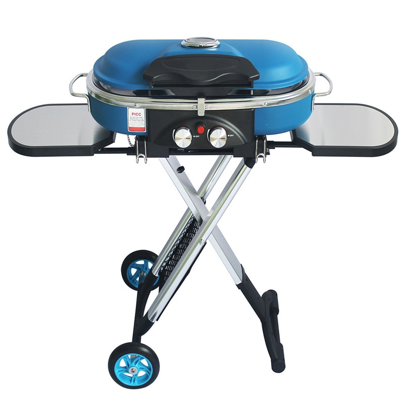 Integrierte Tragbare Trolley BBQ Grill Im Freien Camping Grill Grill Gasherd