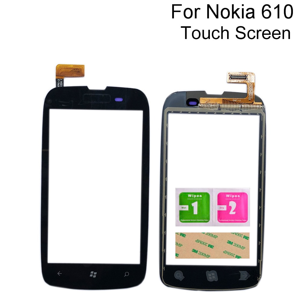 Pantalla táctil móvil de 3,7 pulgadas para Nokia Lumia 610 N610, digitalizador...