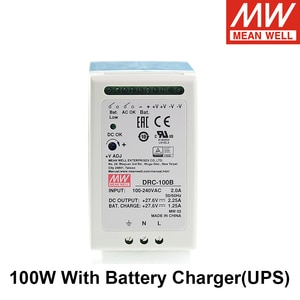 Original MEAN WELL DRC-100A DRC-100B 13.8V 27.6V 100W UPS DIN Rail Security Industry Or Battery Systerms Switching Power Supply