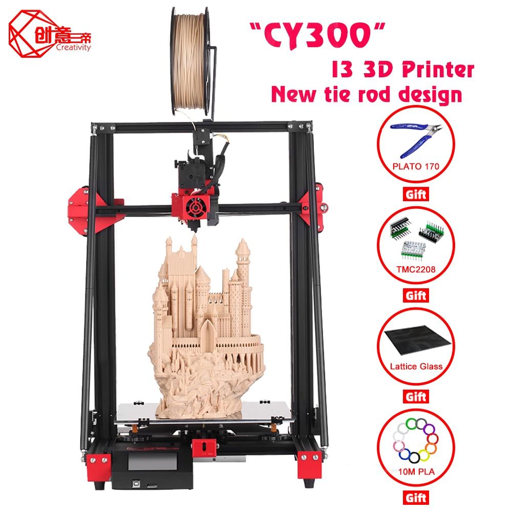 الإبداع FDM طابعة ثلاثية الأبعاد CY300 300x300x400 مساحة كبيرة حجم الطباعة عالية الجودة هيكل I3 يدعم التسوية التلقائية
