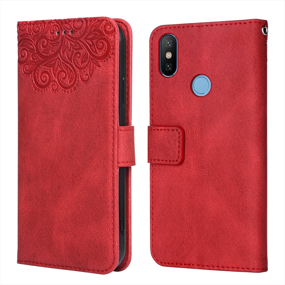 For on Xiaomi Mi 8 Flower Embossing Case Coque for Mi 8 Wallet Flip Leather Case for Xiaomi 8 Mi8 Ph