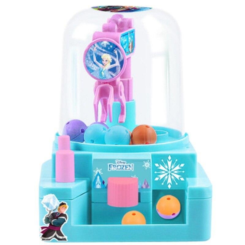 Figuras de acción de Disney, mini máquina de dulces, versión de hielo y nieve, dibujos animados de la princesa aisha, anime, muñeca para coger a niños, máquina para niños